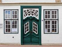 Door, Window, House, Facade stock photo