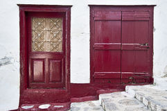 Door and window- Hydra Stock Photo