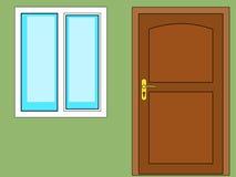Door and window Royalty Free Stock Photo