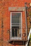 Door or Window on Old Derelict Building Royalty Free Stock Photos