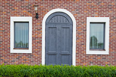 Door with window Royalty Free Stock Image