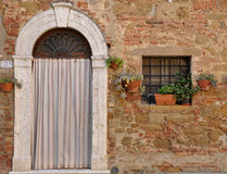Door and Window in Tuscany, Italy Stock Image