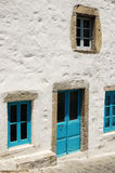 Door and windows in blue Royalty Free Stock Images