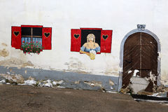Door and windows at krajnska gora. Along the streets of kranjska gora Stock Image