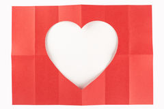 2 door wit hart 6 Royalty-vrije Stock Afbeelding
