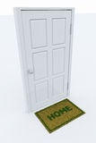 Door With A HOME Mat Royalty Free Stock Photo