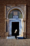 door and woman Great Mosque Royalty Free Stock Photo