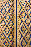 Door woodcarving in temple Stock Photography