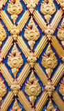 Door woodcarving in temple Stock Images