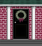 Door Wreath Stock Image