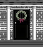 Door Wreath Royalty Free Stock Photo