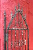 Door of wrought iron stock photo