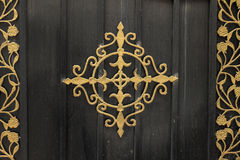 Door, wrought iron decoration Royalty Free Stock Image