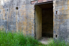Door of WW2 bunker Stock Image
