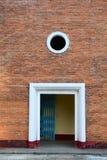 The door of Yersin School in Dalat, Vietnam Stock Images