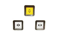 Doorbell & ανοικτό στενού κουμπί κουμπιών & στοκ εικόνες