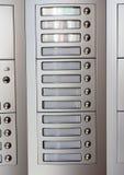 Doorbell σε ένα νοικιασμένο σπίτι Στοκ εικόνα με δικαίωμα ελεύθερης χρήσης