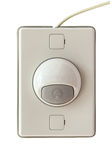 doorbell το σύγχρονο ύφος απομονώνει στο άσπρο υπόβαθρο Στοκ φωτογραφία με δικαίωμα ελεύθερης χρήσης