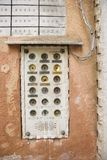 Doorbell box for apartments, Italy. Royalty Free Stock Image