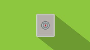 Doorbell button with space background Royalty Free Stock Photography