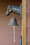 Doorbell. Classic Doorbell with horse statue head Royalty Free Stock Photos