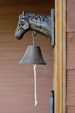 Doorbell. Classic Doorbell with horse statue head Royalty Free Stock Photos