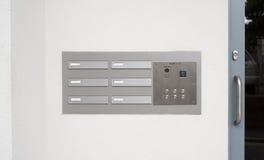 Doorbell do intercomunicador e painel do código de acesso Imagens de Stock Royalty Free