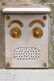 Doorbell face Royalty Free Stock Photo