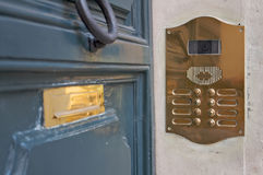 Doorbell, intercom and letterbox Royalty Free Stock Images