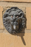 Doorbell. Ornate doorbell outside the wall stock photo