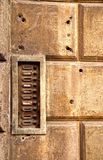 Doorbell signs in an old house Stock Image