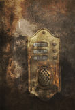 Doorbell to heaven and hell. Doorbell to Heaven, hell and Earth. Grunge concept image Stock Image
