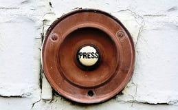 Doorbell velho fotografia de stock