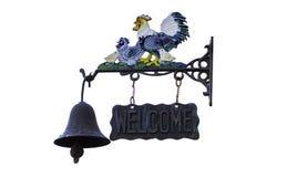 Doorbell welcome Stock Photography