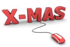 Doorblader Rode Kerstmis - Rode Muis Royalty-vrije Stock Foto's