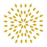 Doorbladert in de herfst Vector graphhics Voor banners en druk stock illustratie