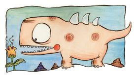 Doorboor dinosaurus Royalty-vrije Stock Afbeelding
