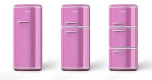 Doorboor retro de koelkast Royalty-vrije Illustratie