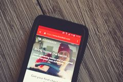 DoorDash App On A Cellphone Editorial Photo - Image of