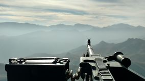 Doorgunner di Uh-60 Blackhawk Fotografie Stock Libere da Diritti