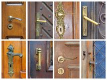 Doorhandle collage Stock Image