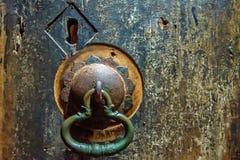 Doorknob at cave temple in Dambulla Royalty Free Stock Image