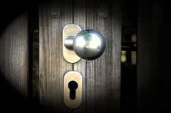 Doorknob and keyhole