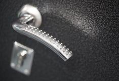 Doorknob and lock closeup Royalty Free Stock Image