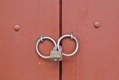 Doorknob with lock Stock Images