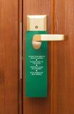 Doorknob no punho Imagem de Stock Royalty Free