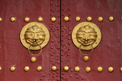 Doorknob. An old chinese historic doorknob Royalty Free Stock Image