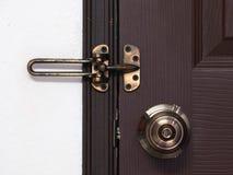 Doorknob, rygiel i zapadka Obrazy Royalty Free