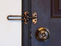 Doorknob, rygiel i zapadka Zdjęcia Stock