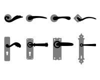 Doorknob. Silhouettes of doorknob and handles of the door Royalty Free Stock Images
